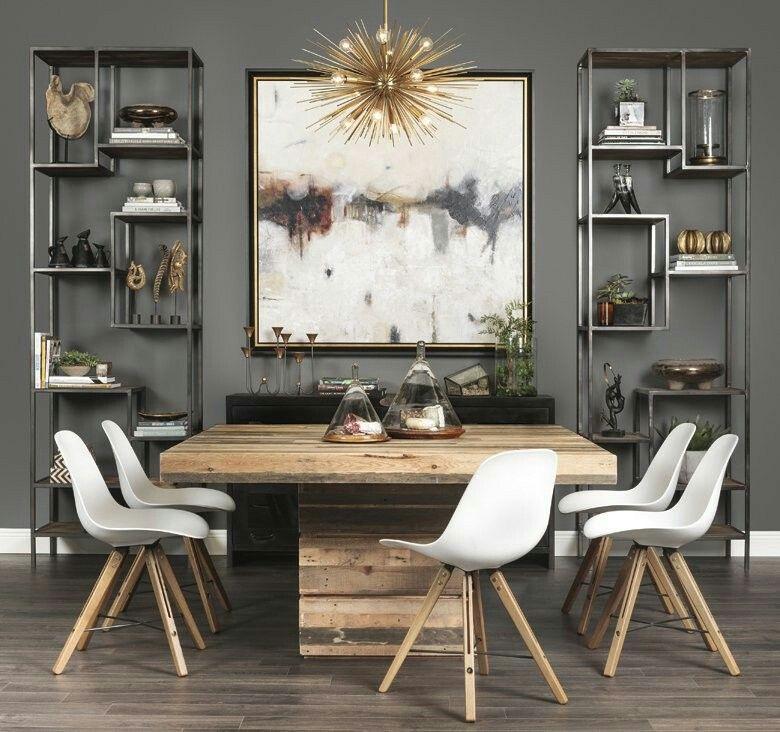 12 Rustic Dining Room Ideas: Farmhouse Dining Room Table, Dining
