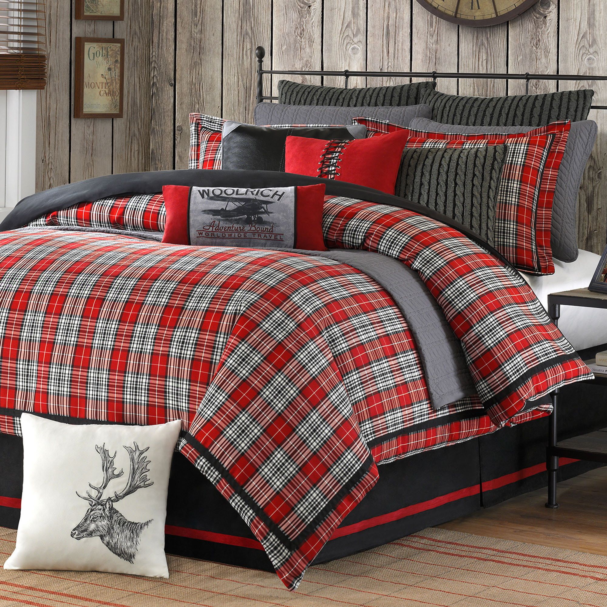 rustic bedroom bedding kikicoleman ideas duvet pin cover plaid red pictures blue