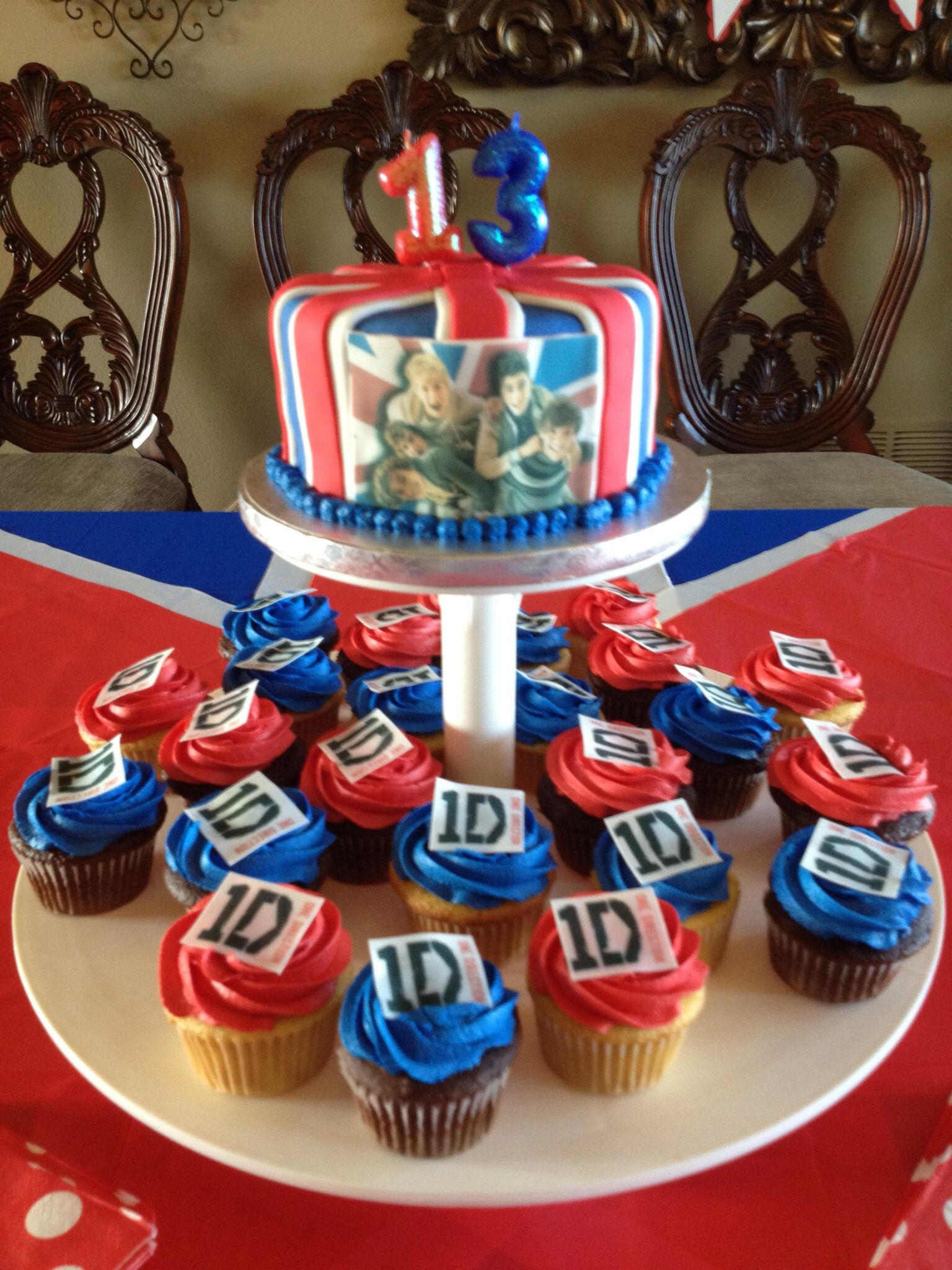 One Direction Cupcakes And Small Cake