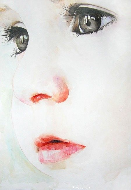 Watercolor Paintings By Cora And Tiana Visage A L Aquarelle