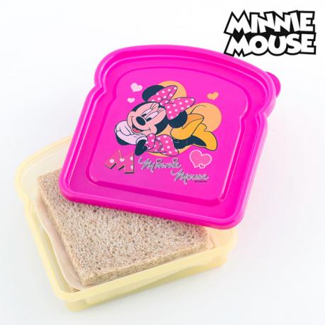 Porta-Sándwich Minnie Disney - 148 El porta-sándwich Minnie Disney es perfecto para que las niñas lleven el almuerzo o la merienda a cualquier parte! Esta pequeña tartera con la imagen de la popular ratoncita es ideal para...