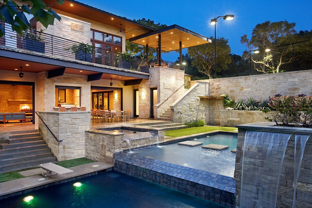 hillside house plans Picture of incredible pool elevations and