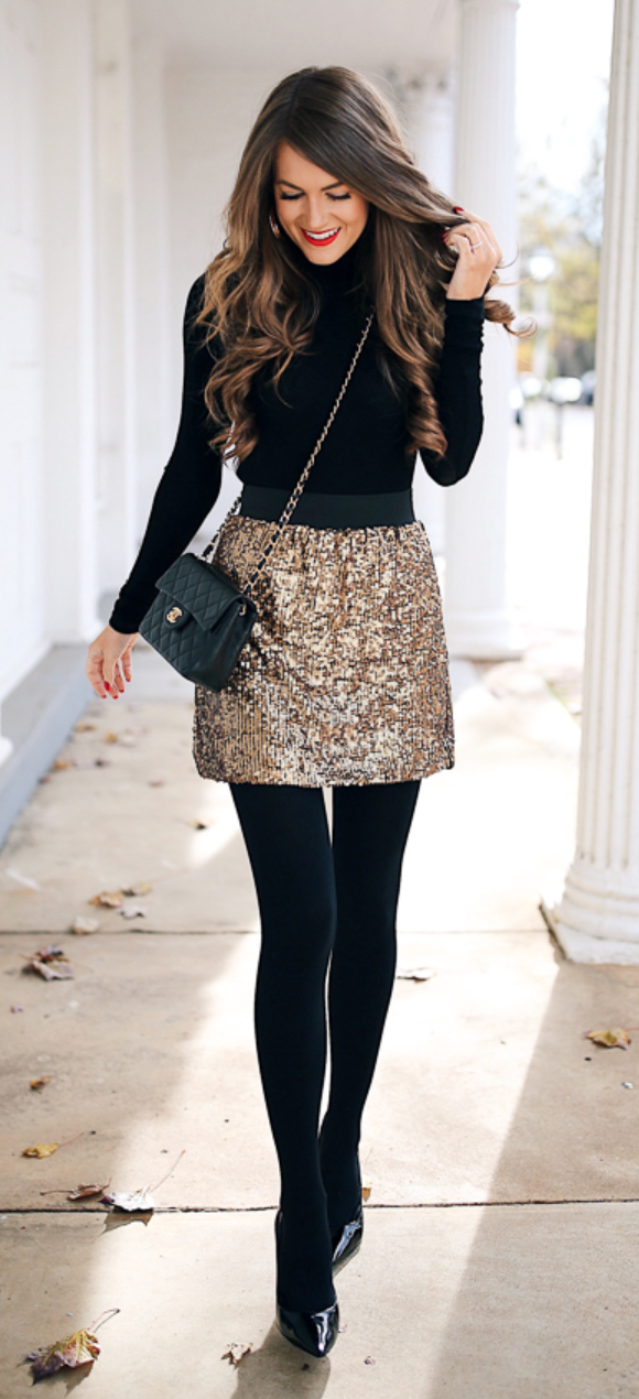 b1903185a787 sequin mini skirt #winterfashioncold | outfits | Mini skirt outfit ...