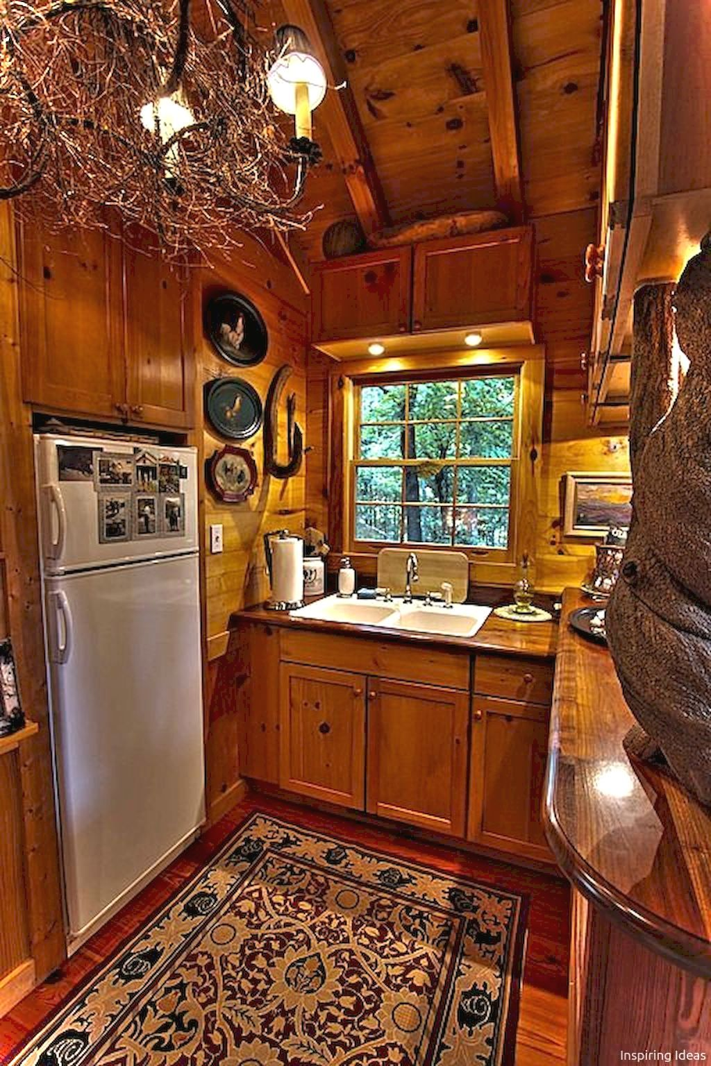 Gorgeous 45 Gorgeous Cottage Kitchen Small Log Cabin Ideas ... on Rustic:mophcifcrpe= Cottage Kitchen Ideas  id=34541