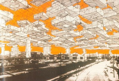 Ville spatiale yona friedman 1967 architecture drafted - Superstudio barcelona ...
