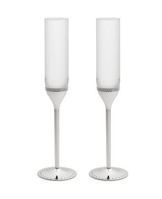 Vera Wang Wedgwood Toasting Flutes, Set of 2 Grosgrain - Serveware - Dining & Entertaining - Macys #macysdreamfund