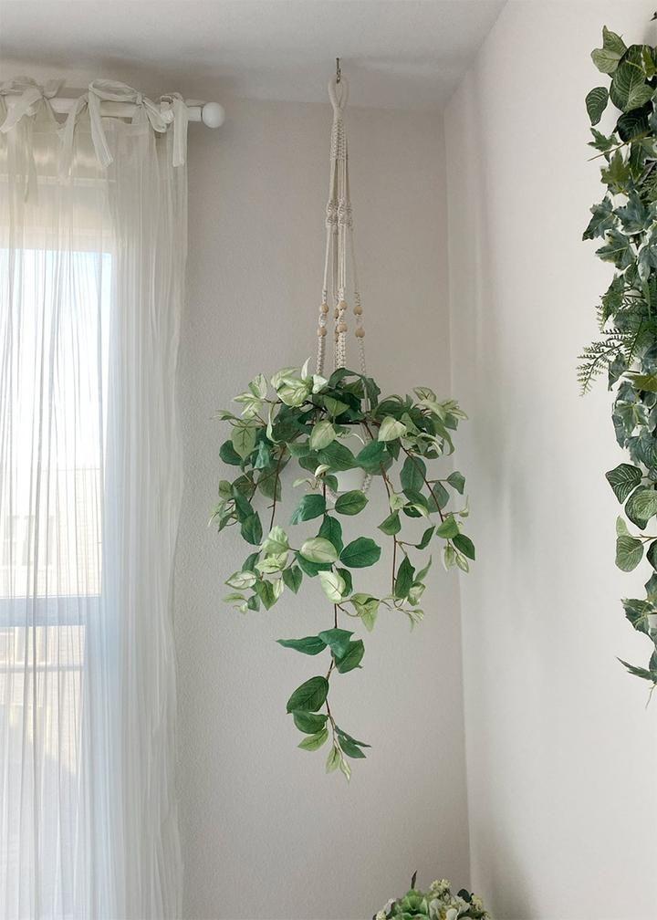 Artificial Hanging Hoya Leaf Bush