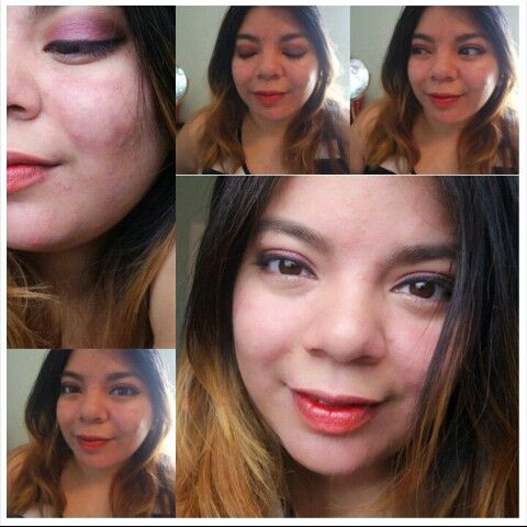 Plum & Brown Eye Look With Tinted Red Lips. Using Products From My October Wantable Box. Review On Blog.  #makeup #makeuplooks #wantablebox #falllook