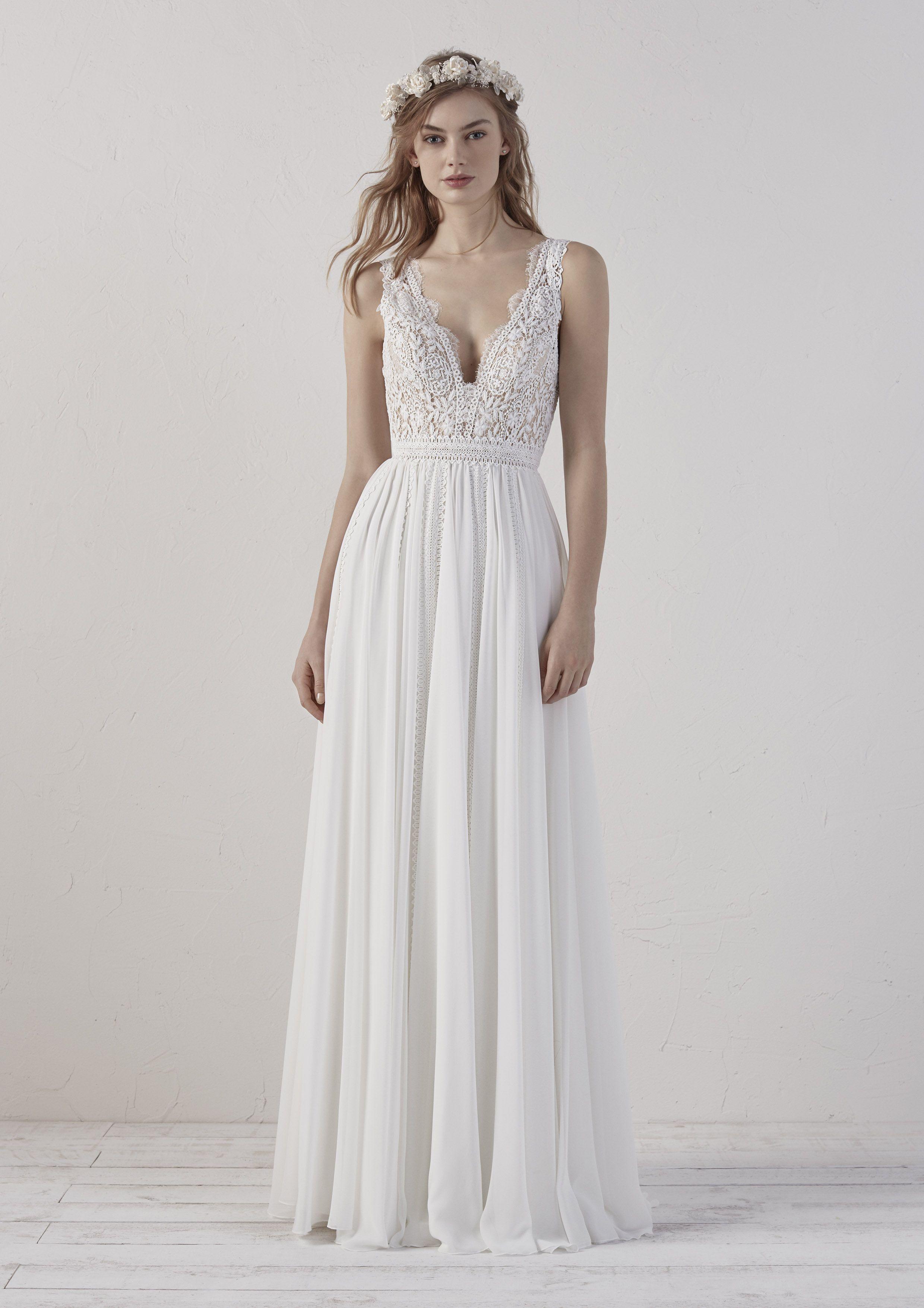 Brautmode Boho Style EFIGIE PRONOVIAS  Brautmode, Hochzeitskleid