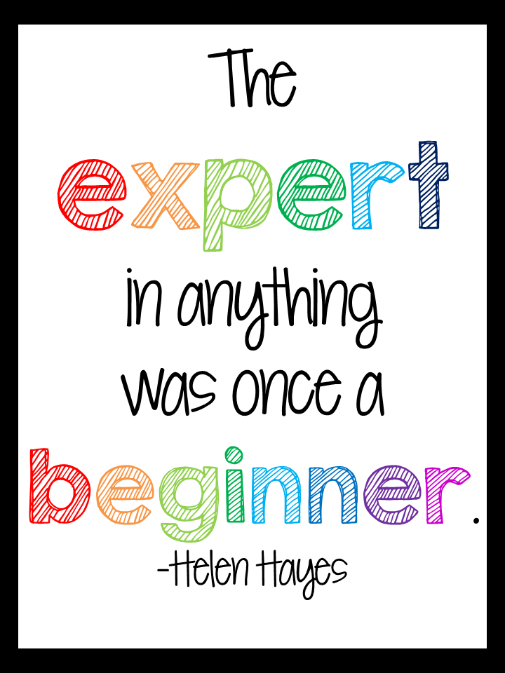 Made It: Art Frames, A Quote, and a Freebie Too The inspirational quote in this free printable reminds me not to be too tough on myself when I am learning something new.The inspirational quote in this free printable reminds me not to be too tough on myself when I am learning something new.
