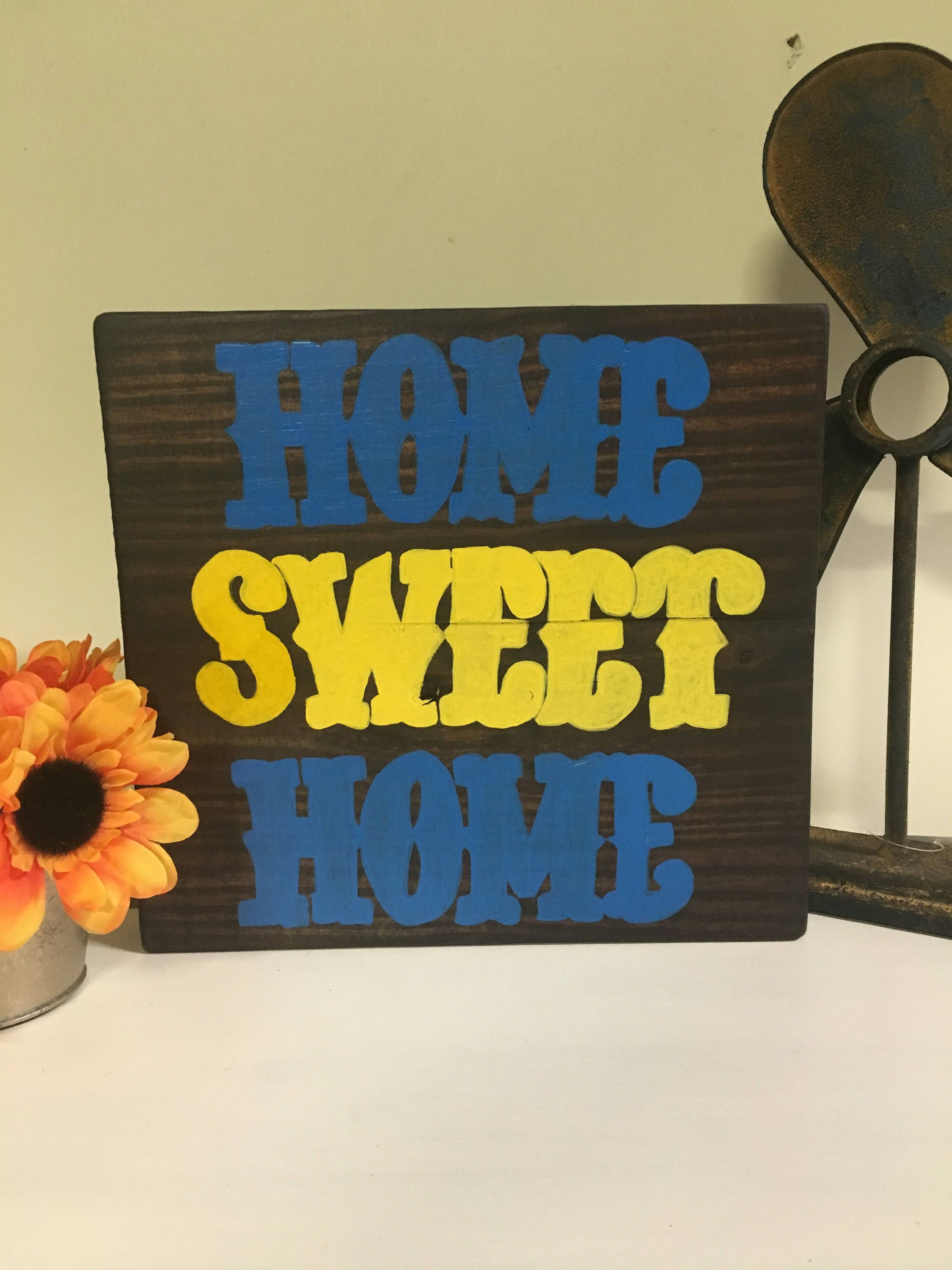 Home Sweet Home Sign | Rustic Distressed Wall Decor | Gallery Wall ...