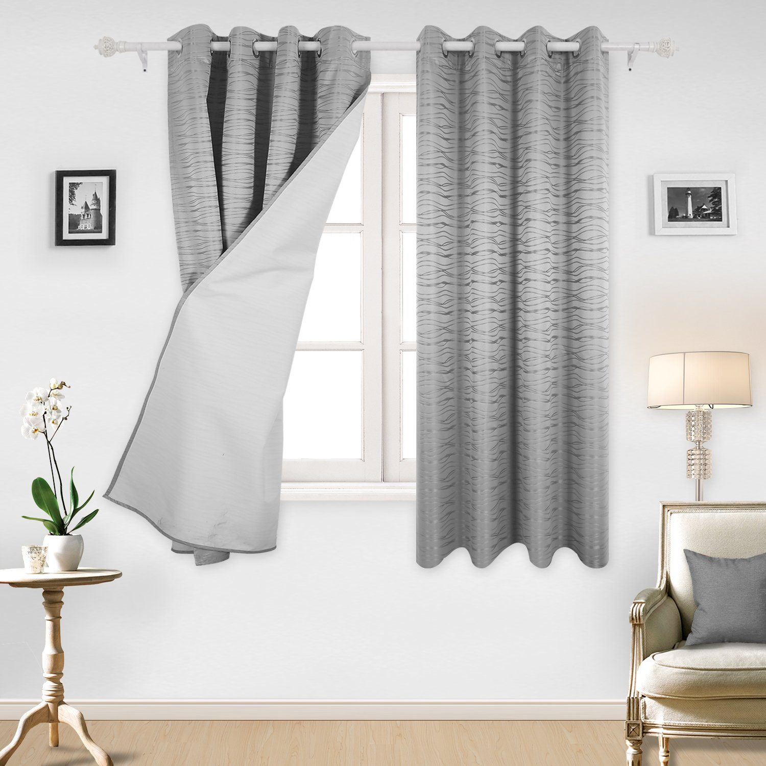 excellent chic permalink green curtain linen insulated in modern curtains picture inspirations image l natural grommet