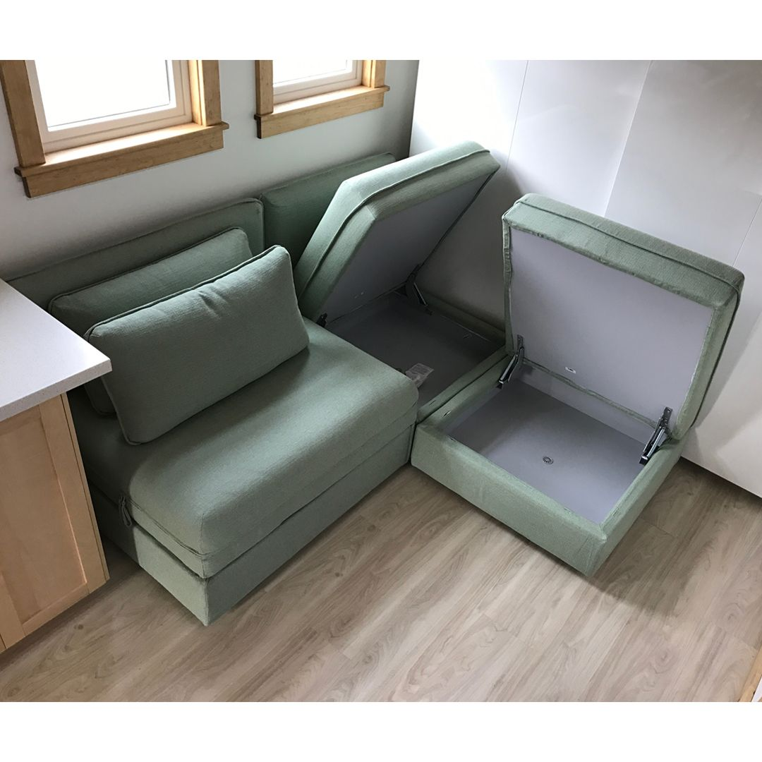 Ikea Sofa With Wheels Shelter Arm Ideas This Sectional Has 2 Storage Seat Units And One Sleeping