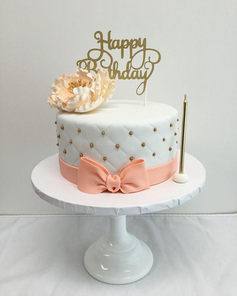 Awe Inspiring Elegant Birthday Cake Pin Yamuna On Cakes In 2018 Pinterest Cake Funny Birthday Cards Online Alyptdamsfinfo