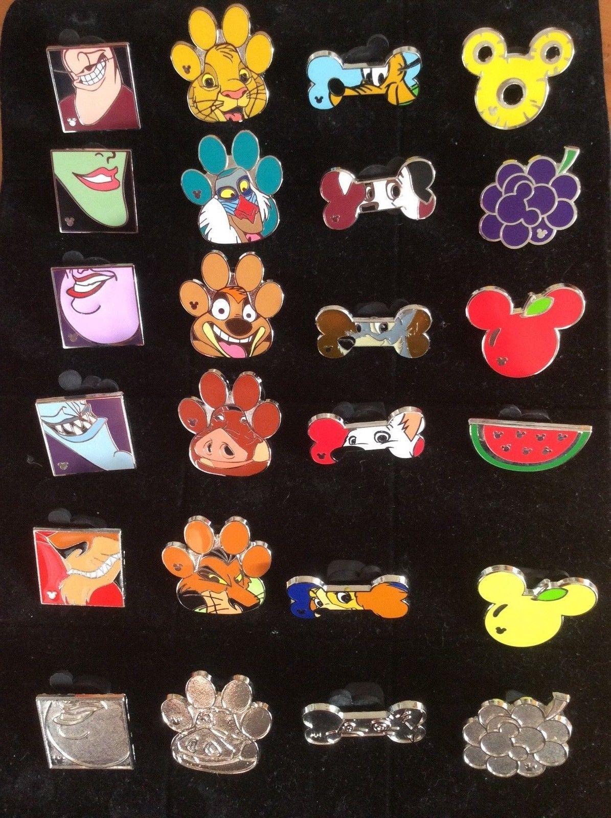 ccf34dea4b67 #disney Disney Trading Pins - 4 Complete Sets Hidden Mickey 2017 Paws Bones  Fruit please retweet