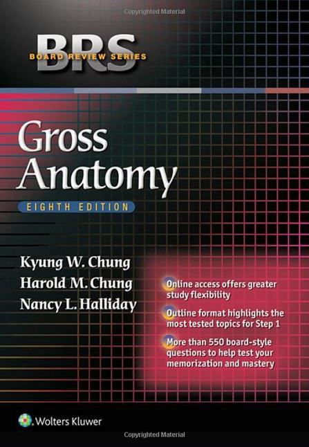 Brs Gross Anatomy Board Review Series 8th Edition Pinterest