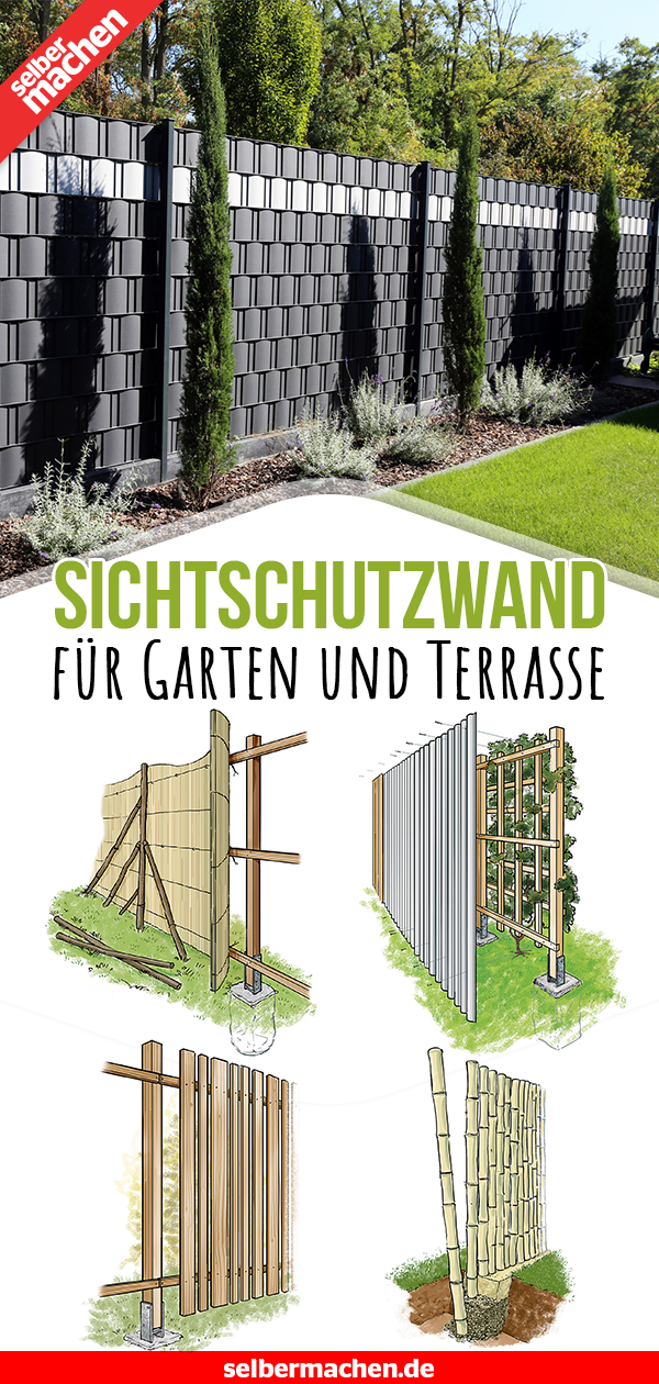 Sichtschutzwand bauen - Garten und Terrasse #gartenlandschaftsbau