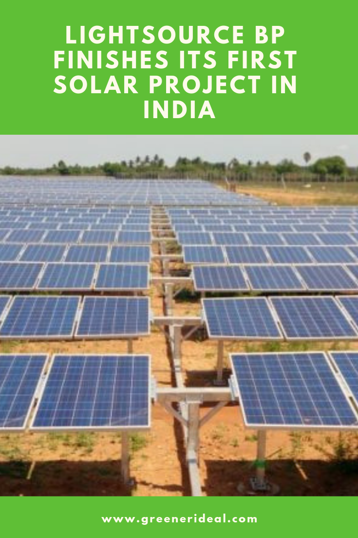 Lightsource Bp Finishes Its First Solar Project In India Solar Projects Solar Best Solar Panels