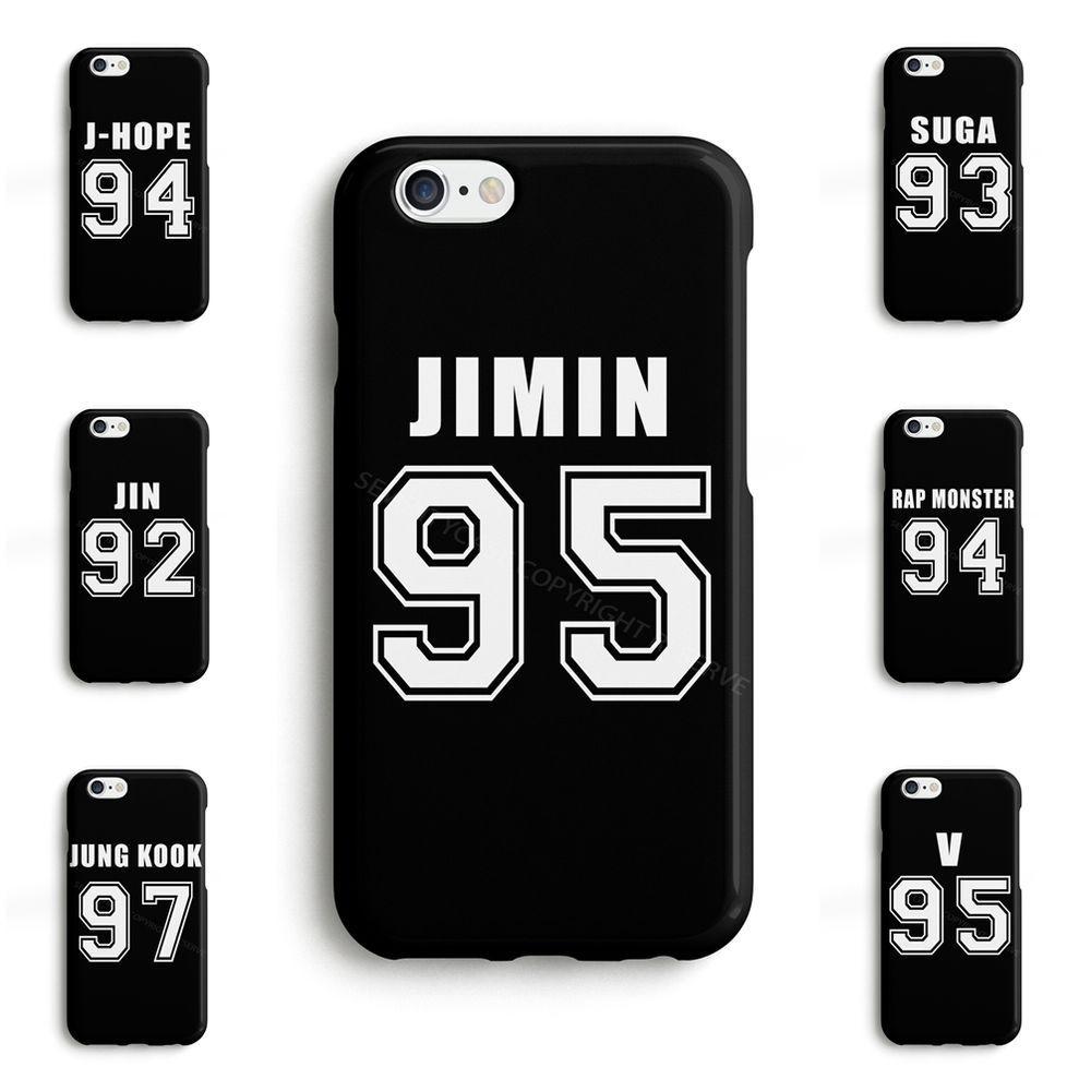 b2ab5d77b27 BTS Bangtan Boys JUNG KOOK JIMIN V JIN Kpop Phone Case Cover for iPhone  Samsung #SeventyCase