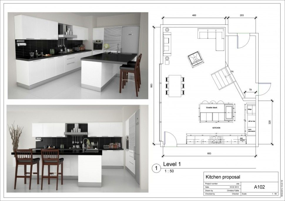 Kitchen Awesome Simple Kitchen Layout Ideas With White Modern Kitchen Cabinet And Kitchen Is Modern Kitchen Plans Kitchen Designs Layout Kitchen Design Plans