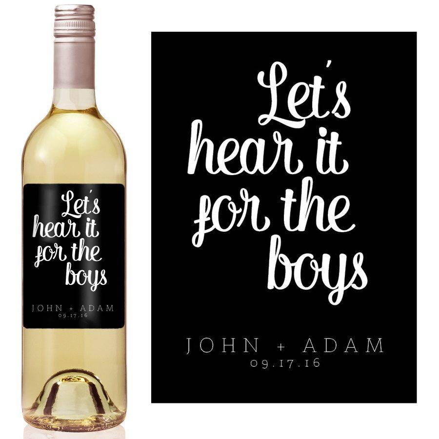 wine wedding shower gift poem%0A Gay Wedding Wine Label  Custom Wine Label  Personalized Wine Label  Gay  Wedding  Gay Wedding Gift  Same Sex Marriage
