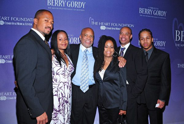 Berry Gordy, Hazel Gordy and 3 children by then husband ...
