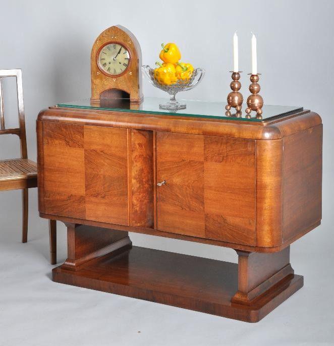 Antieke Dressoir Kasten.Antieke Kasten Frans Art Deco Dressoir In Notenhout Met