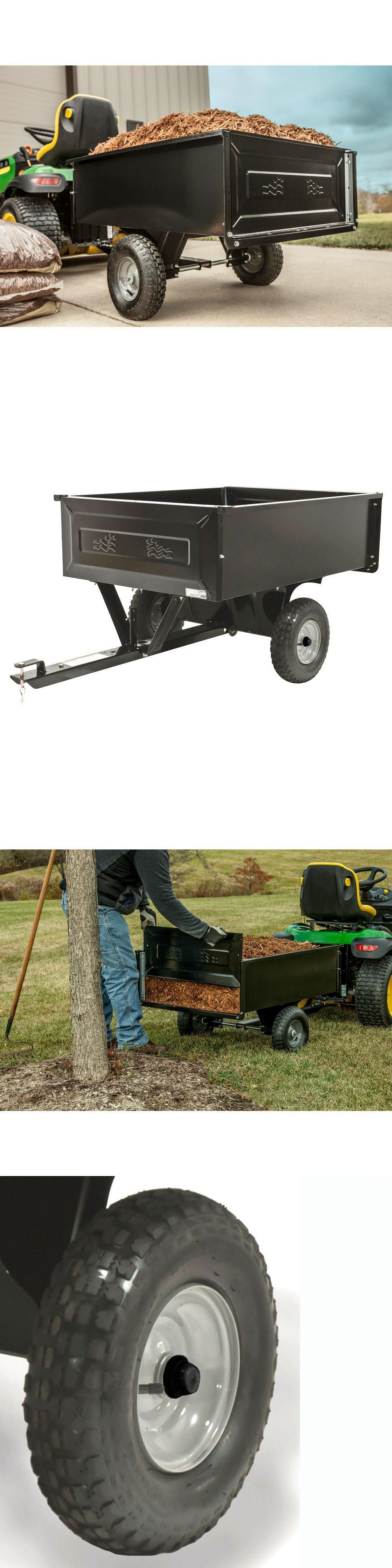 Details About Steel Dump Cart Tractor Mower Atv Garden Wheelbarrow Haul Agri Fab Yard Trailer Tractor Mower Dump Cart Lawn Mower Tractor