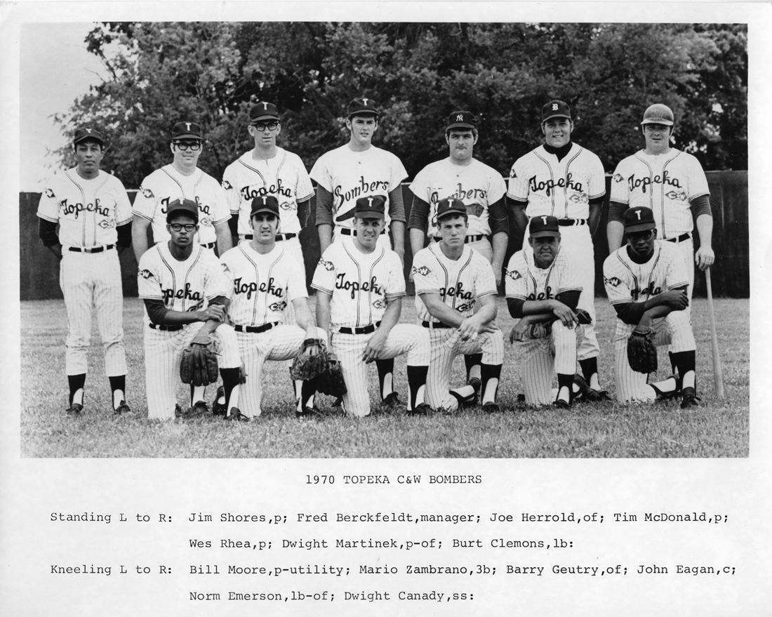 C W Bombers A Topeka Semi Pro Team 1970 Competed In The Stan Musial League Courtesy Of The Bettis Family Stan Musial Topeka Baseball History