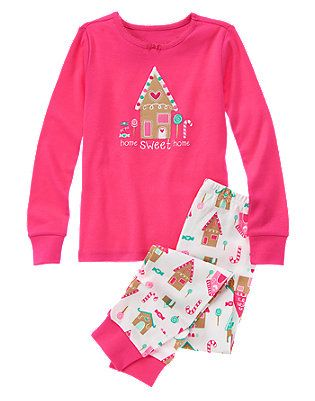 72e9b60dd Toddler Girls Candy Pink Home Sweet Home 2-Piece Gymmies® by ...