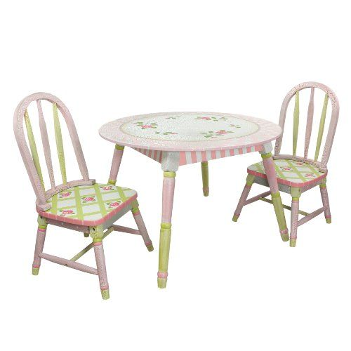 Fantasy Fields Crackled Rose Table Amp Set Of 2 Chairs