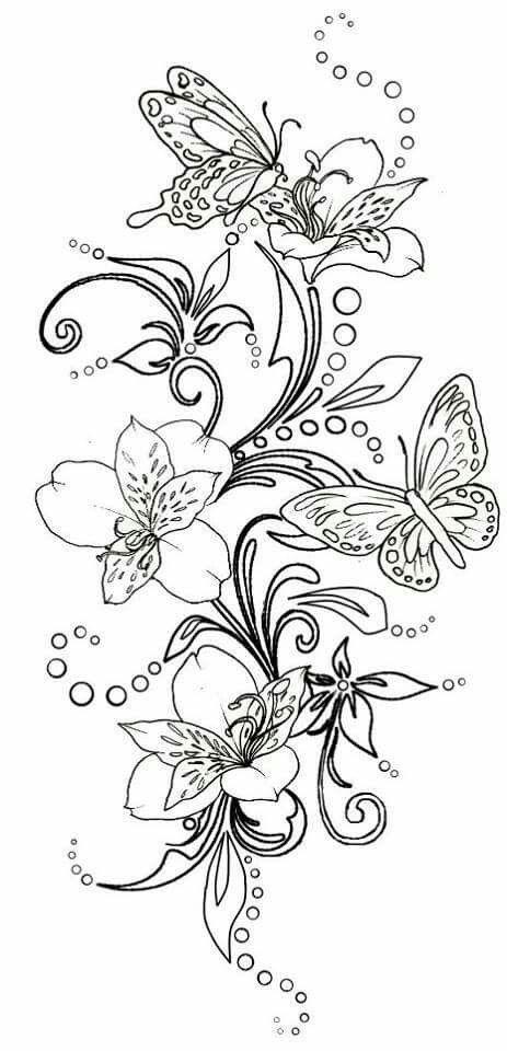 Pin by Letty Santiago on dibujos | Pinterest | Bordado, Mariposas ...