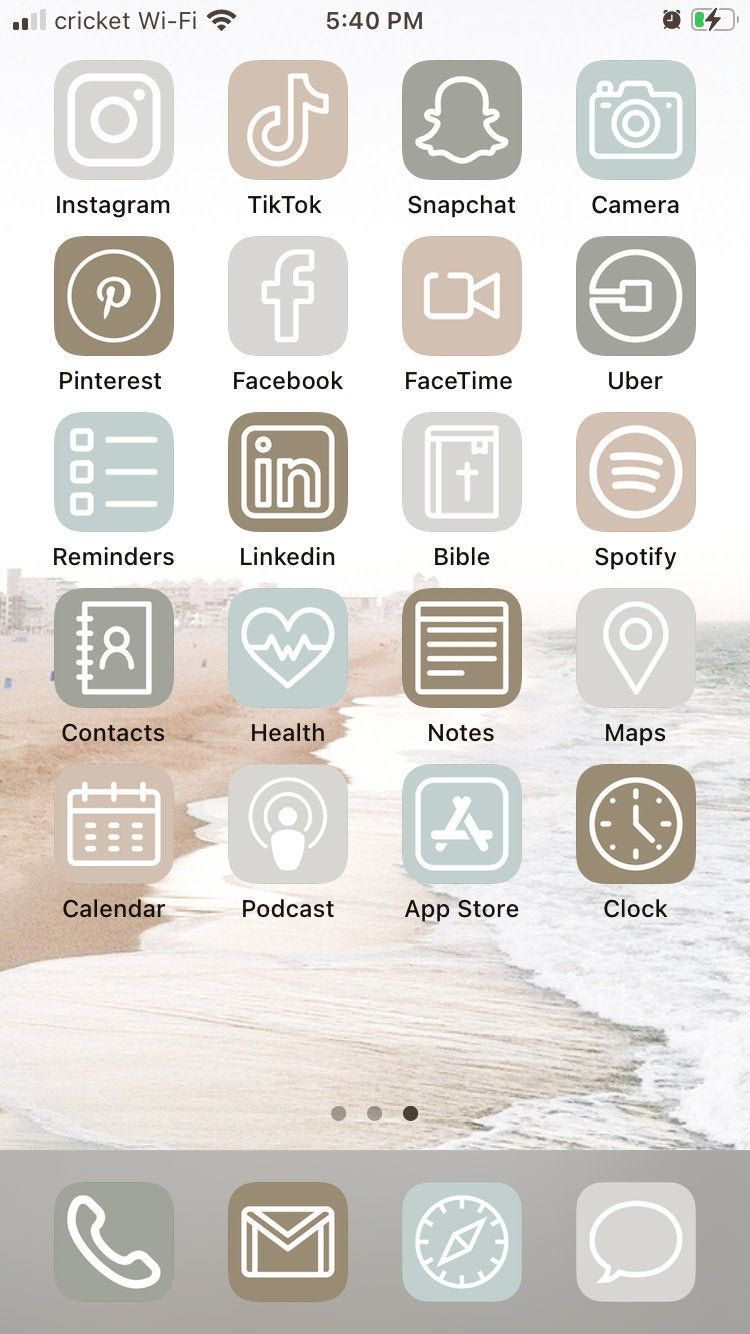 Neutral Shore Ios 14 Aesthetic Iphone App Icons 50 Pack In 2020 App Icon Iphone Apps Iphone App Layout