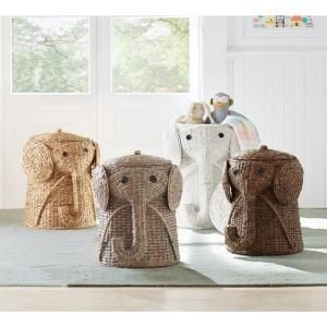 bdb57ea3af743 Home Decorators Collection Animal 16 in. W Laundry Hamper in White  1641800410 at The Home Depot - Mobile