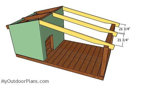 Dog House Plans with Porch MyOutdoorPlans