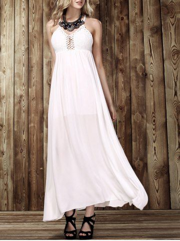 e540be2865 Stylish Women s Plunging Neck Sleeveless Backless Dress Semi Formal Dresses  For Wedding