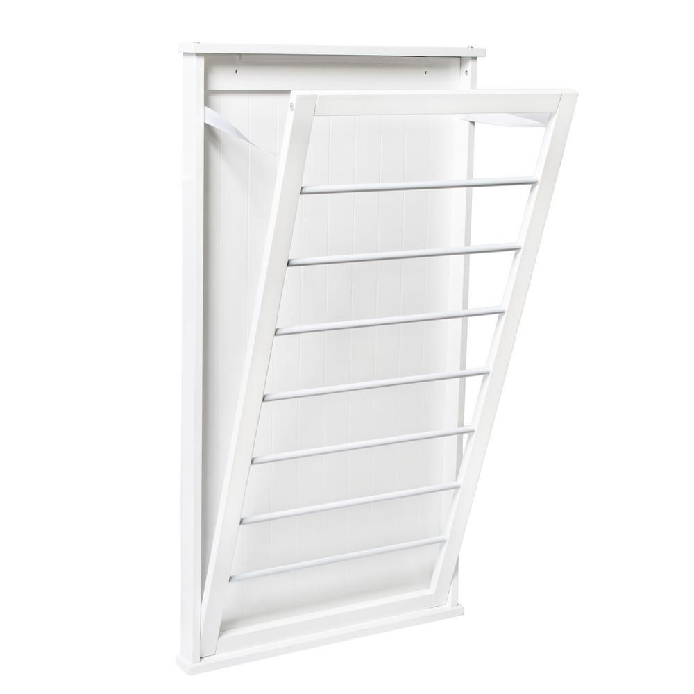 Honey Can Do 23 In X 42 In White Vertical Wall Mount Dry Rack