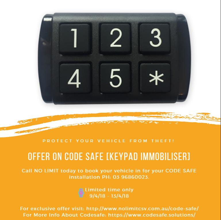 Offer on Code Safe [ Keypad Immobiliser ]. For exclusive