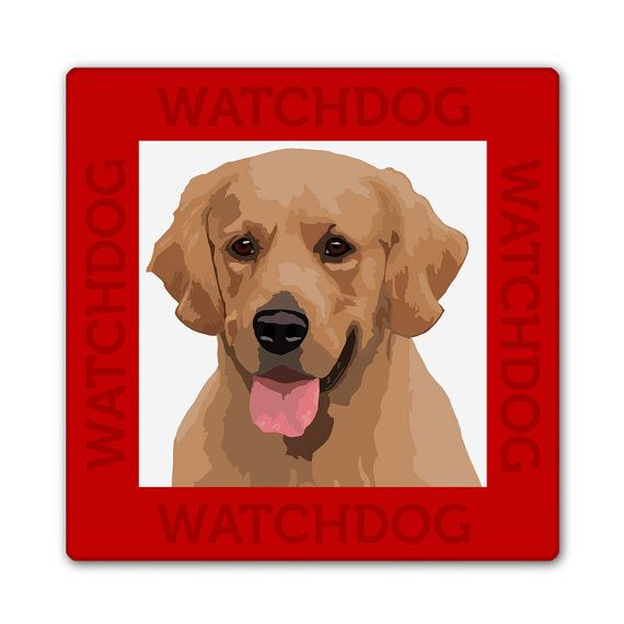 Labrador waakbord van watch4dogz op Etsy