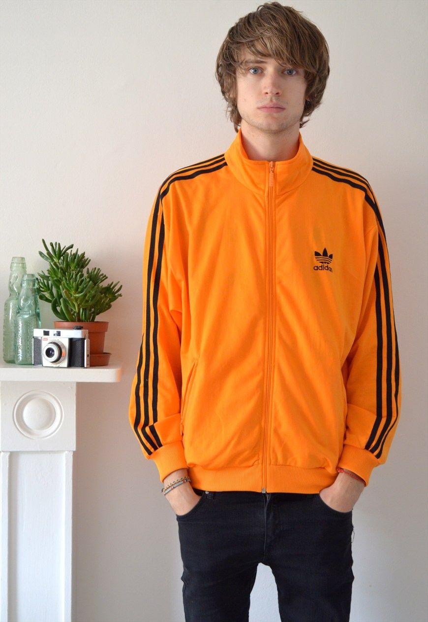 d8a12c8f289 90s Vintage Orange Adidas Track Jacket | Ica Vintage | ASOS Marketplace  Jackets | Men Vintage