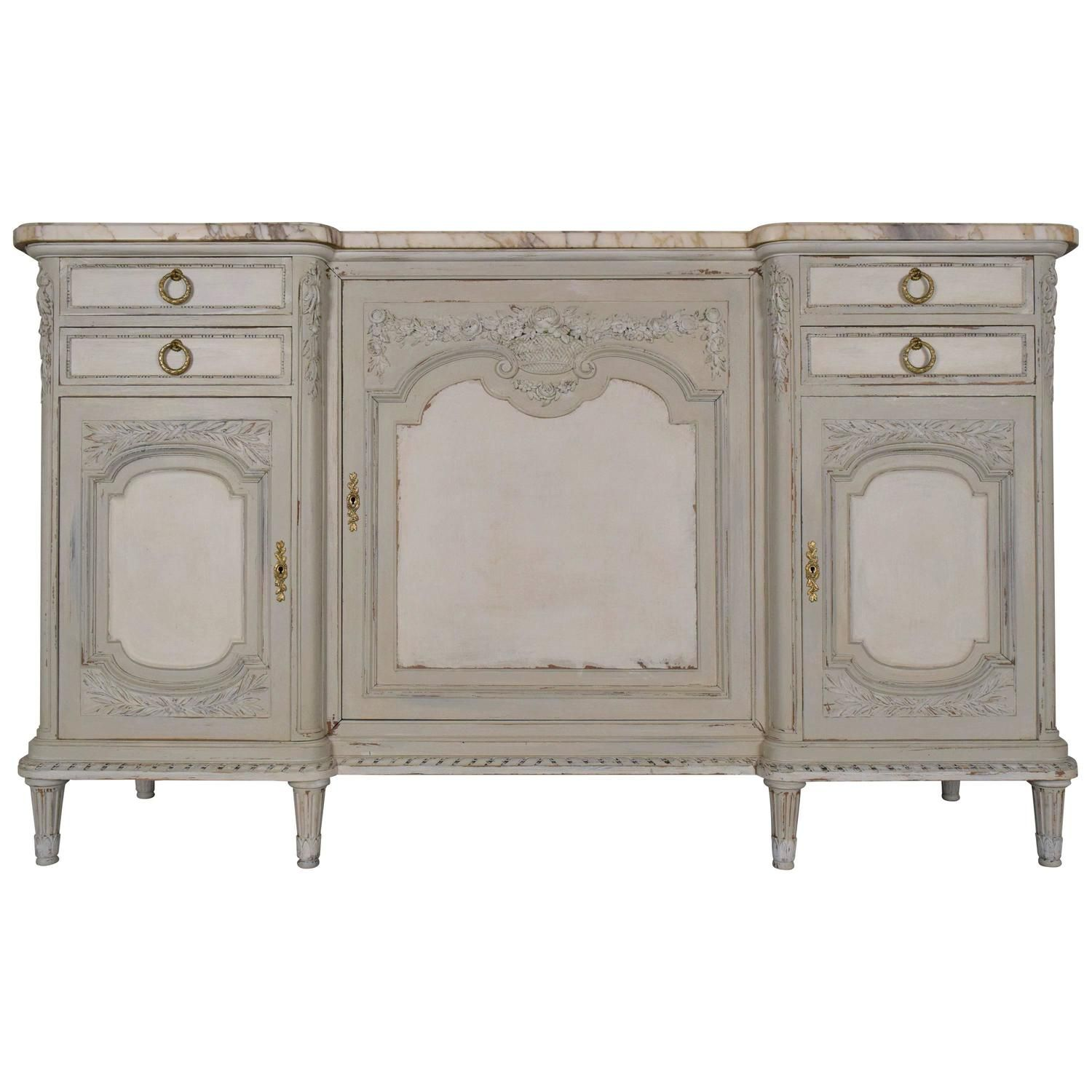 Antique French Louis XVI Painted Sideboard   Painted sideboard ...