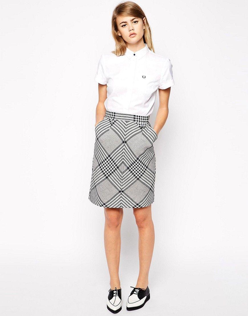 7fc67651a3 ASOS Fred Perry white polo shirt, pencil skirt gray   Jonas / Rose ...