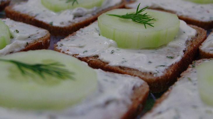 Open Faced Cucumber Sandwiches Recipe