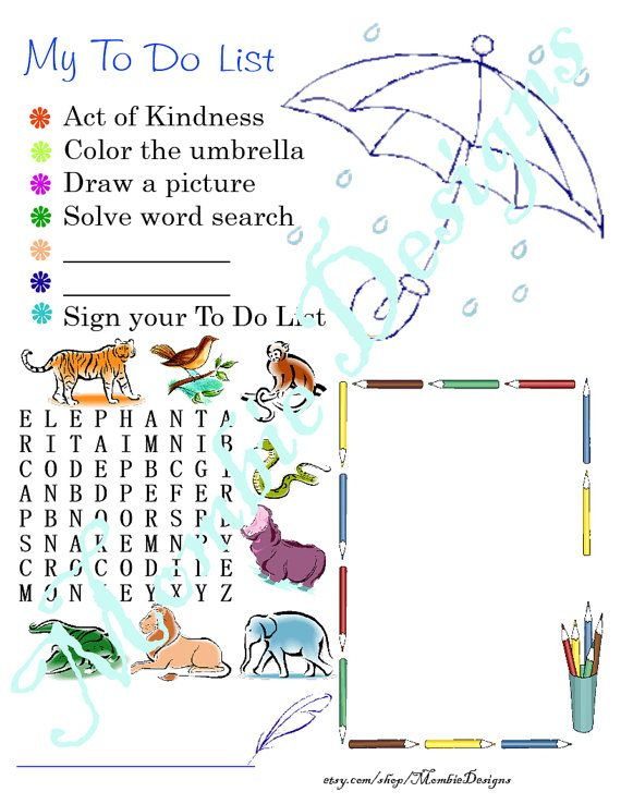 Kid Questionnaire My To Do List childrensu0027 by MombieDesigns, #PDF - another word for to do list