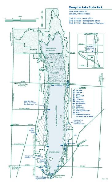 Mosquito Lake State Park map