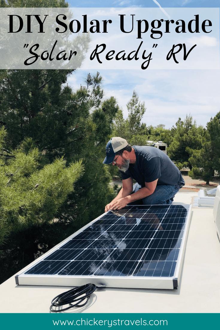 Diy Power Upgrade Solar Ready Arctic Fox Fifth Wheel Chickery S Travels Solar Rv Solar Power Solar Panels