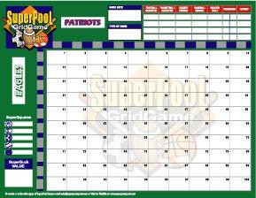 100 Square Football Board | 100 Square Football Pool Sheet ...