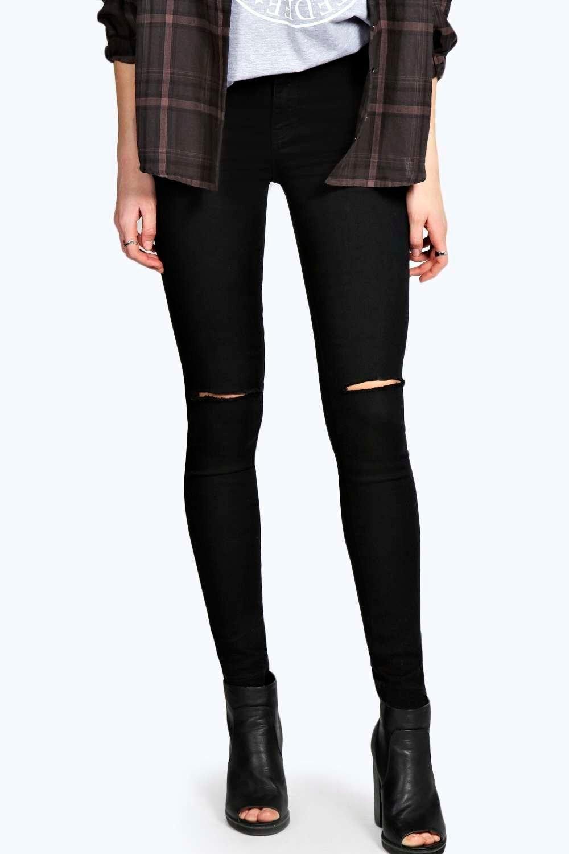 Black high waisted disco jeans