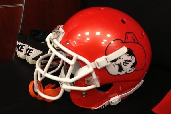 Oklahoma State Football Breaking Down Cowboys New Pistol Pete Uniforms Oklahoma State Football Pistol Pete Football Helmets