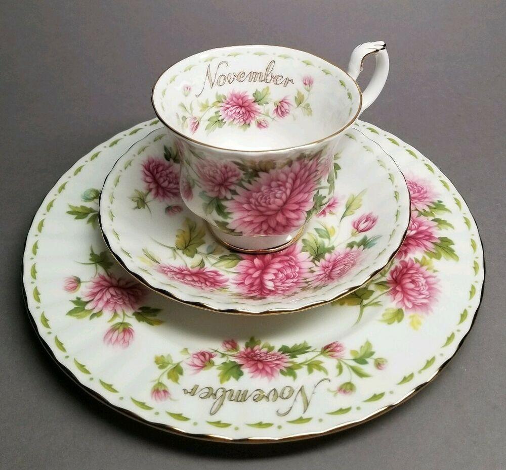 Royal Albert Flower of the Month Series NOVEMBER Tea Cup